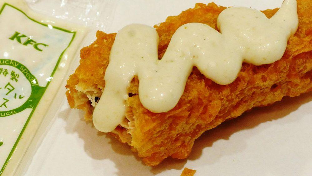 KFC Fried Salmon with tartar sauce