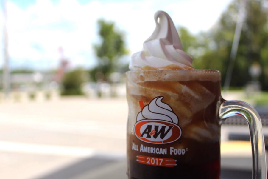 A & W Rootbeer float