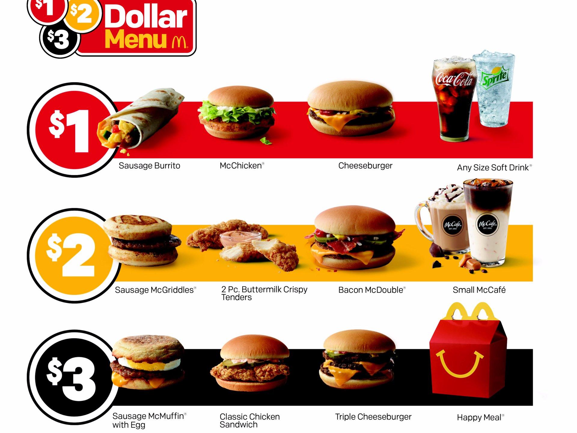 Dollar Menu at McDonald's
