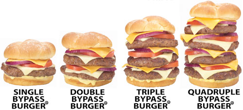 Heart Attack Grill – The Quadruple Bypass Burger