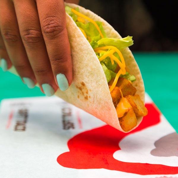 Spicy potato soft taco