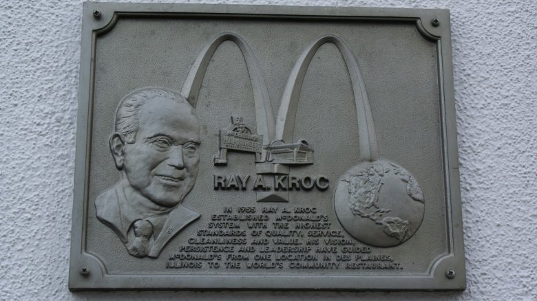 Ray Kroc commemorative plaque