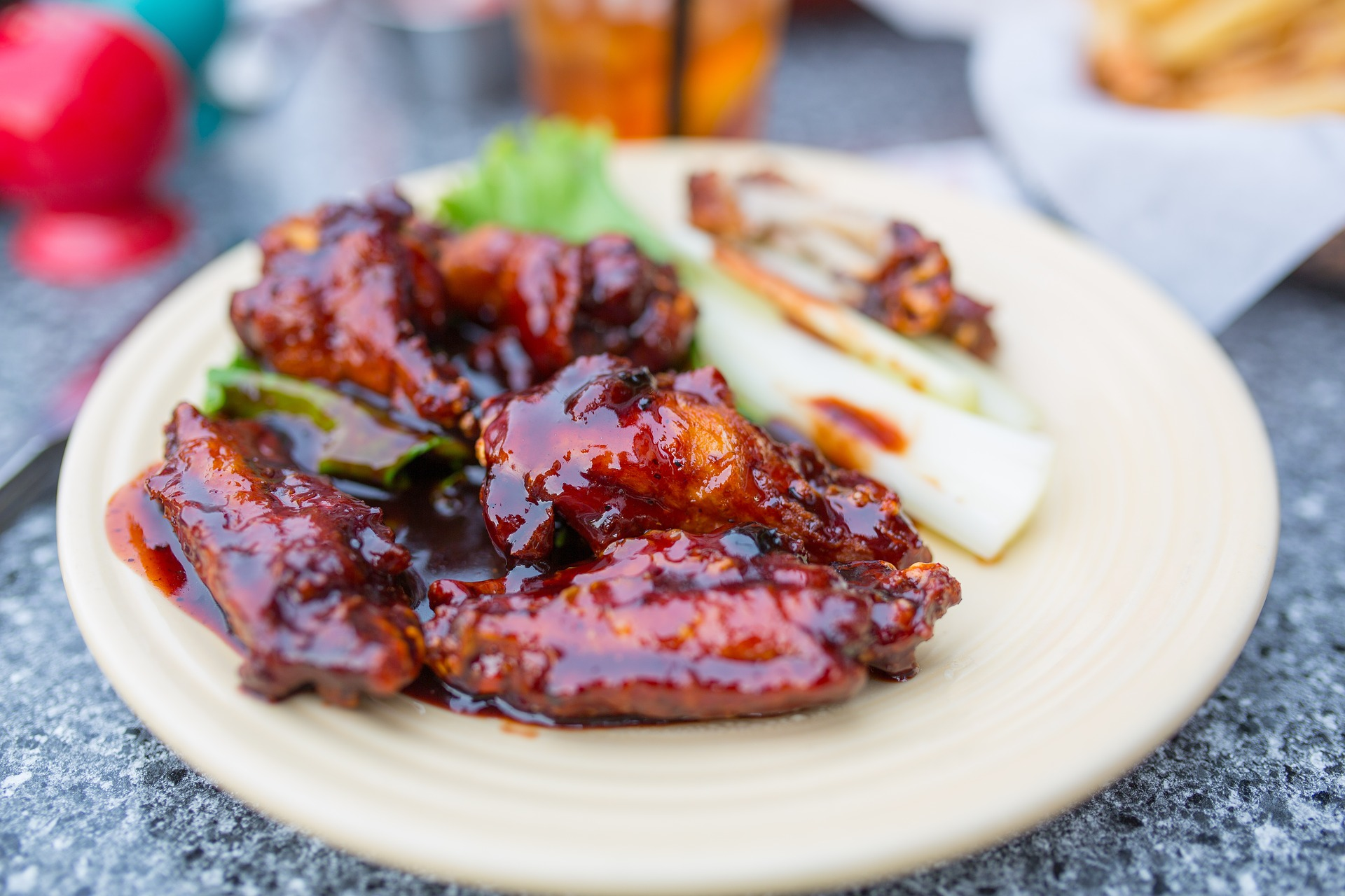 Chicken wings made with Coca Cola