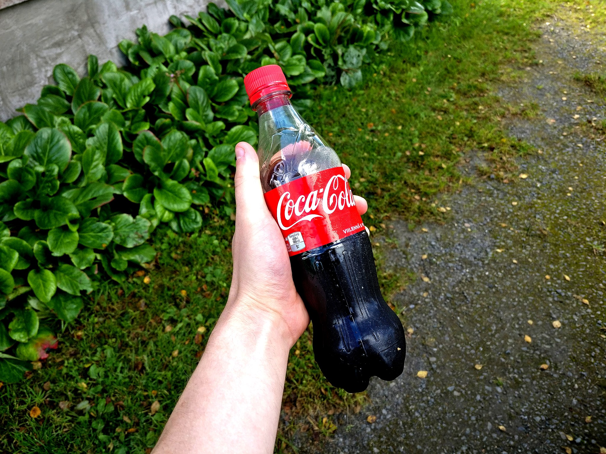 Coca Cola for use in the garden