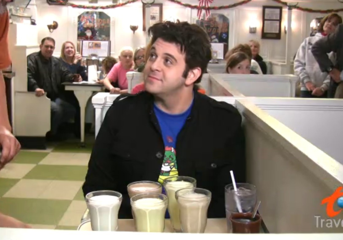 man v food five milkshake challenge
