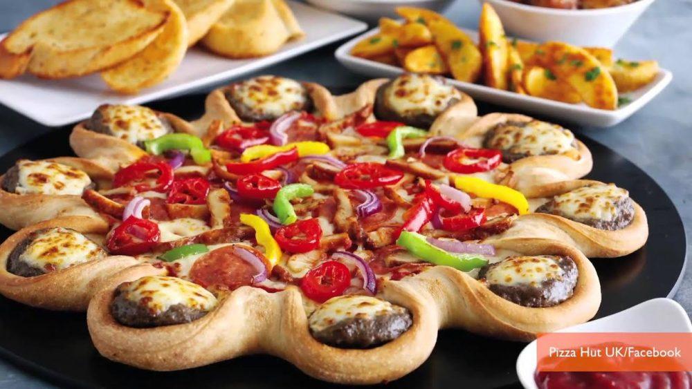 Pizza Hut Cheeseburger Crust Pizza