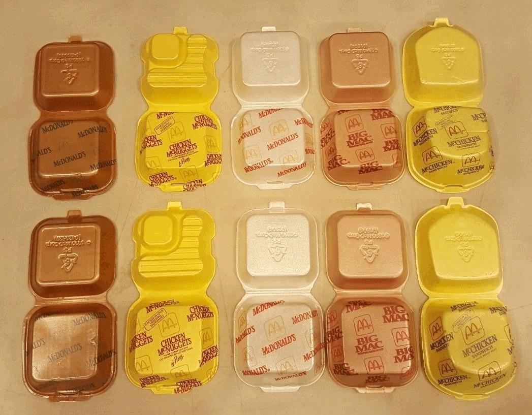McDonald's polystyrene packaging