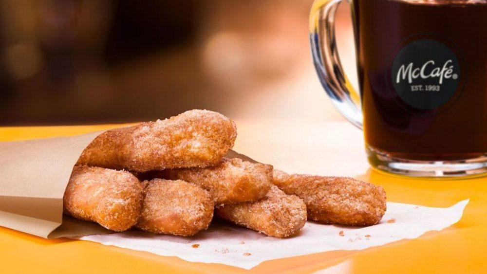 Donut Sticks with McCafé