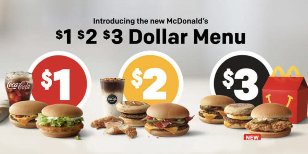 1 2 3 dollar menu McDonald's