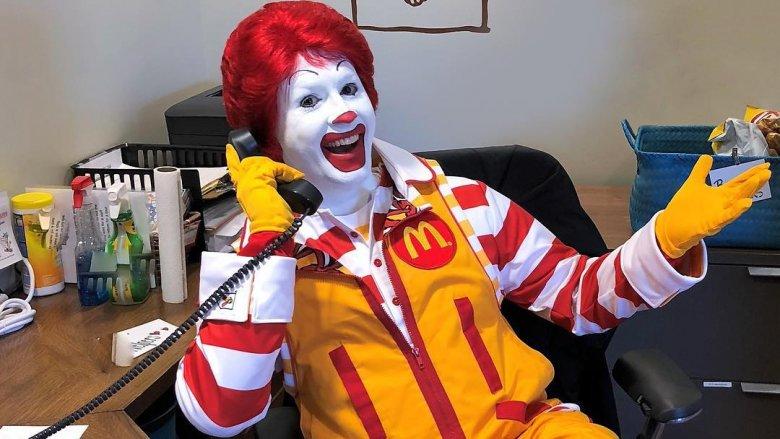 Ronald McDonald's actors can't eat the food