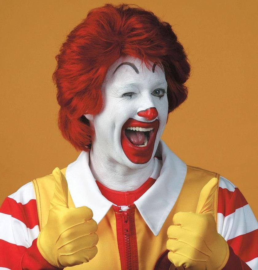 Ronald McDonald actors can't hug kids
