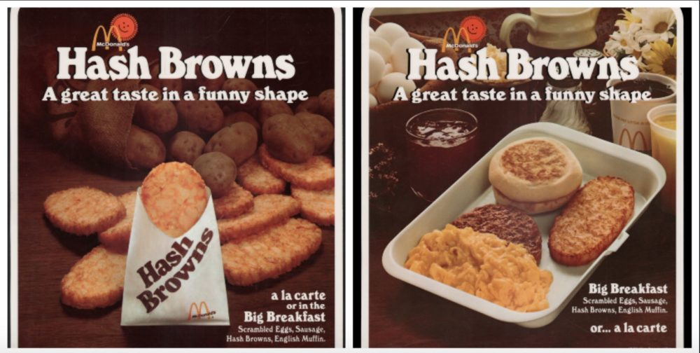 Hash brown advertisements McDonalds 1977