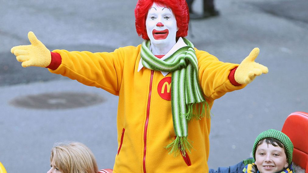 Ronald McDonald actors can't say where burgers come from
