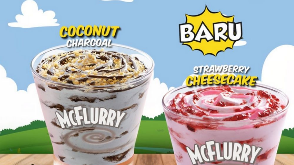 Coconut Charcoal McFlurry at McDonald's Indonesia