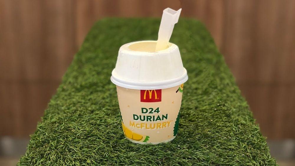 Durian McFlurry McDonald's Singapore