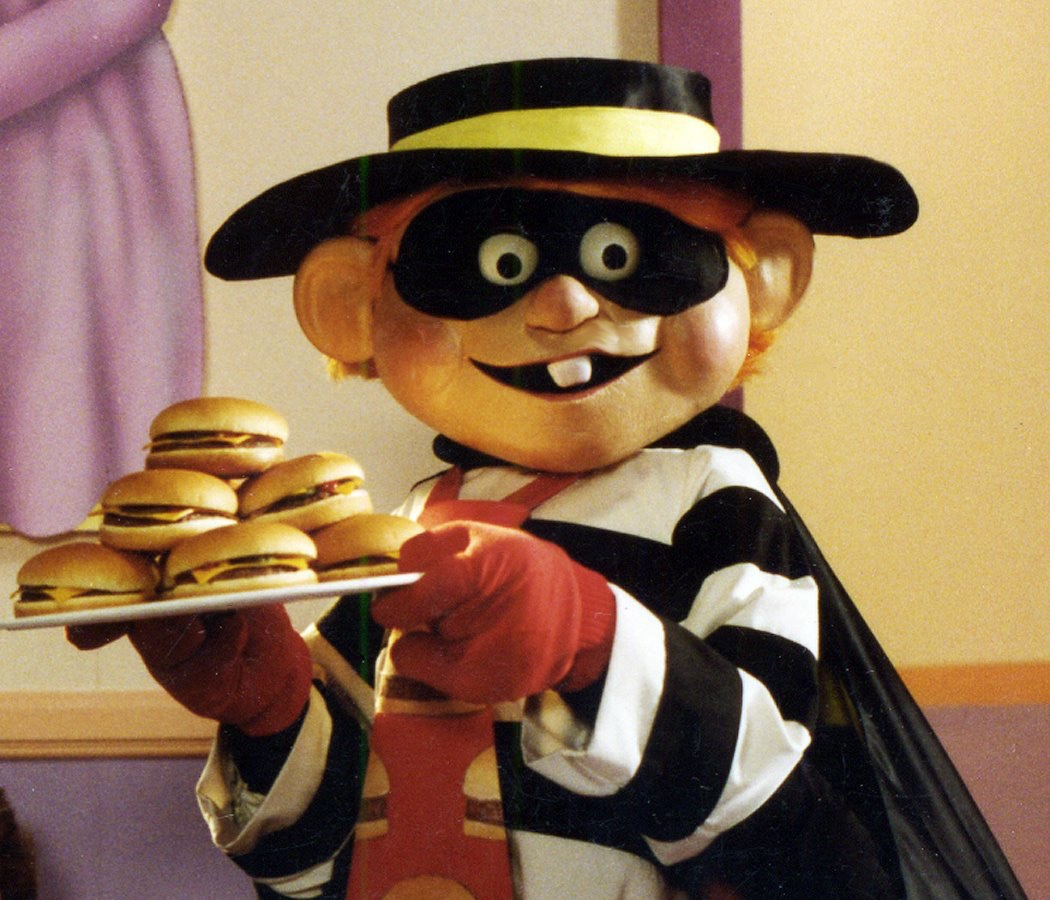 Hamburglar with hamburgers