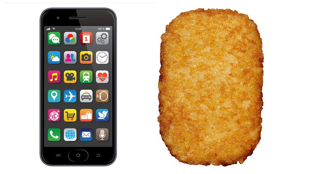 Police officer mistook hash brown for cell phone