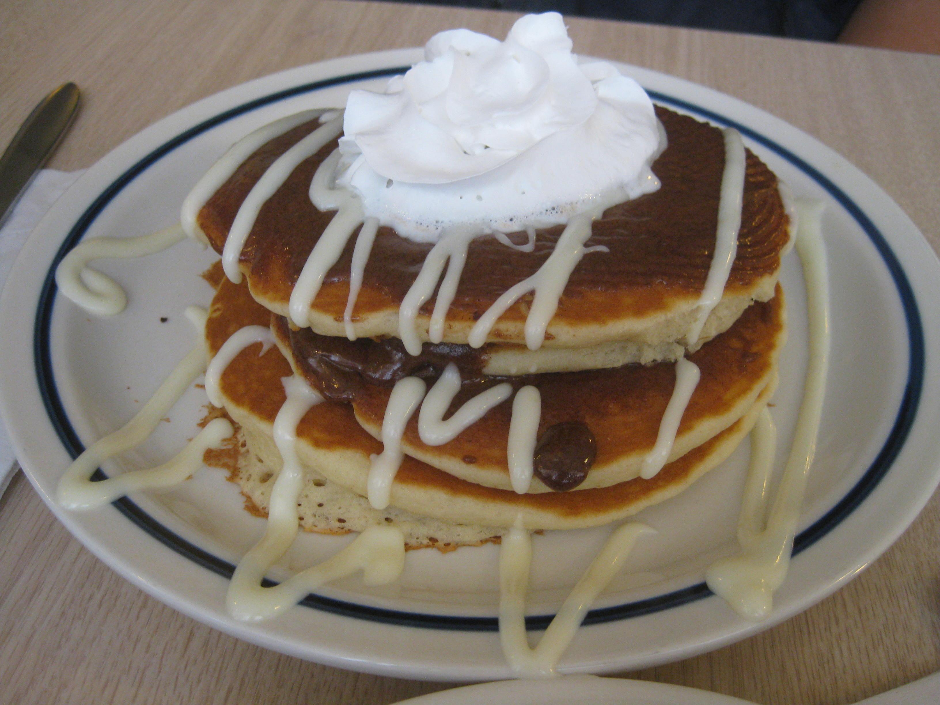 IHOP cinnamon pancakes