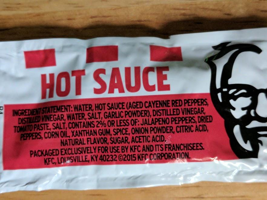 KFC Hot Sauce