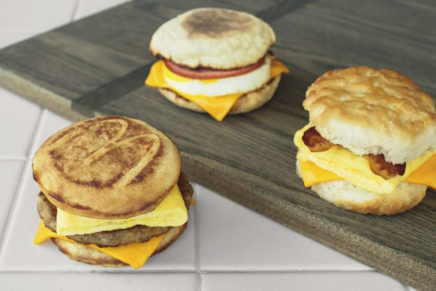 McDonalds Breakfast sandwiches