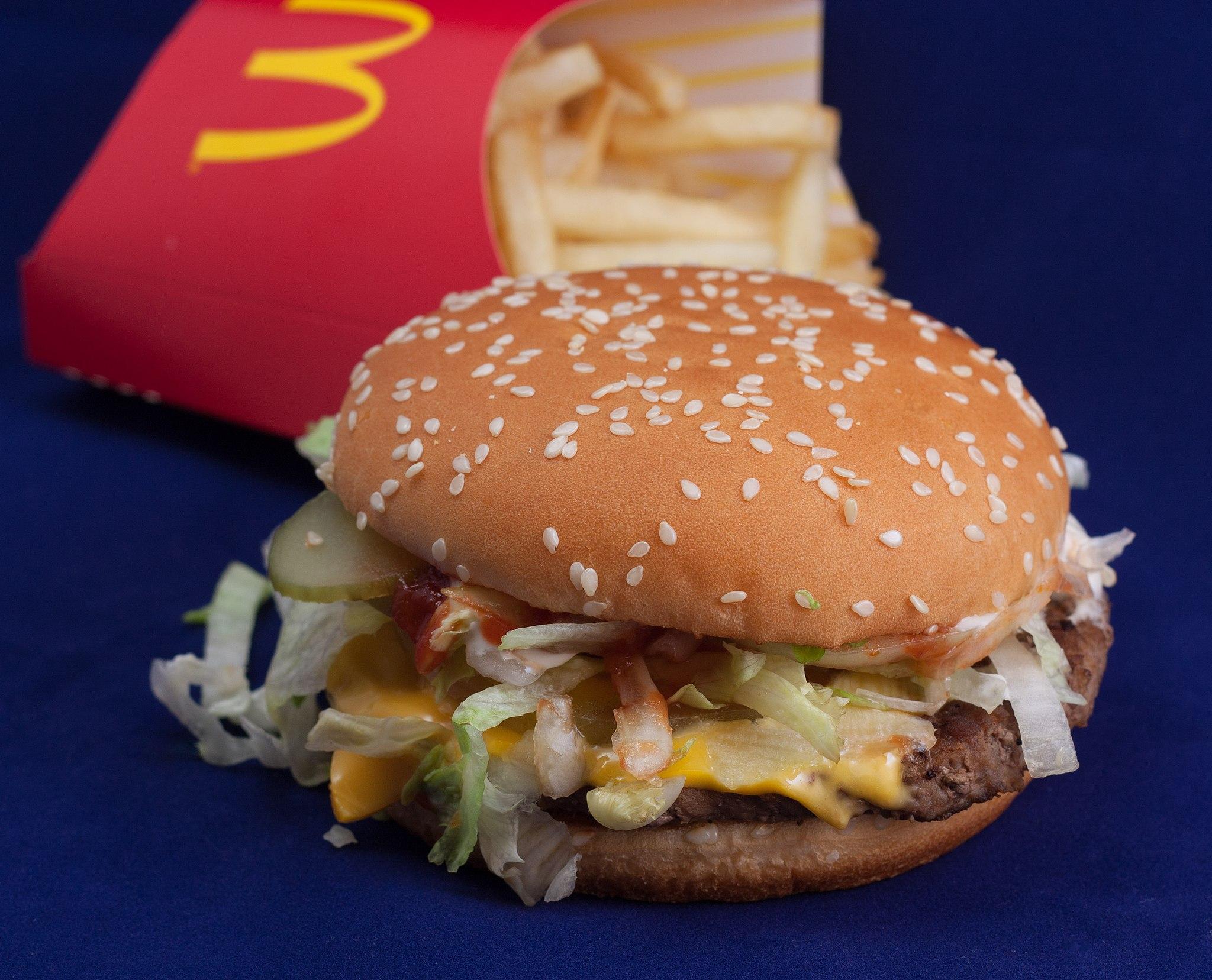 McDonald's Big N' tasty burger with fries