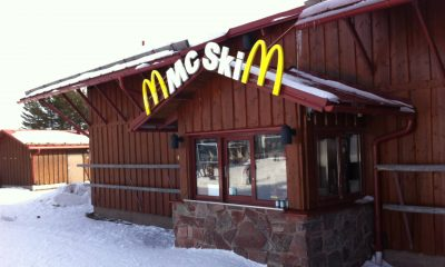 ski cabin style McDonald's