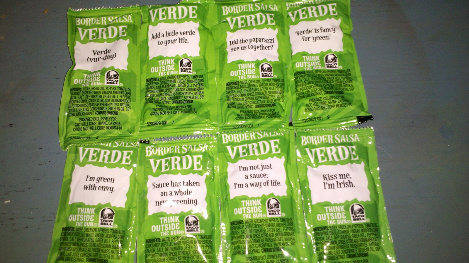 Taco Bell Verde Border Salsa Sauce