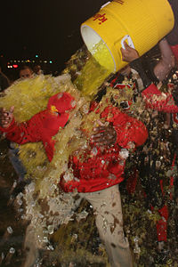 """The New York Giants Invented the """"Gatorade Shower"""""""
