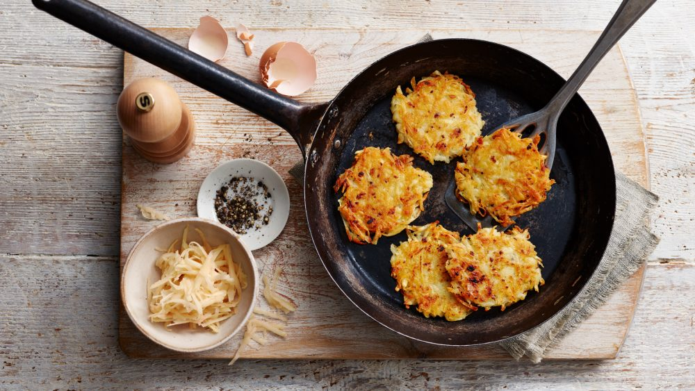 DIY hash browns in skillet