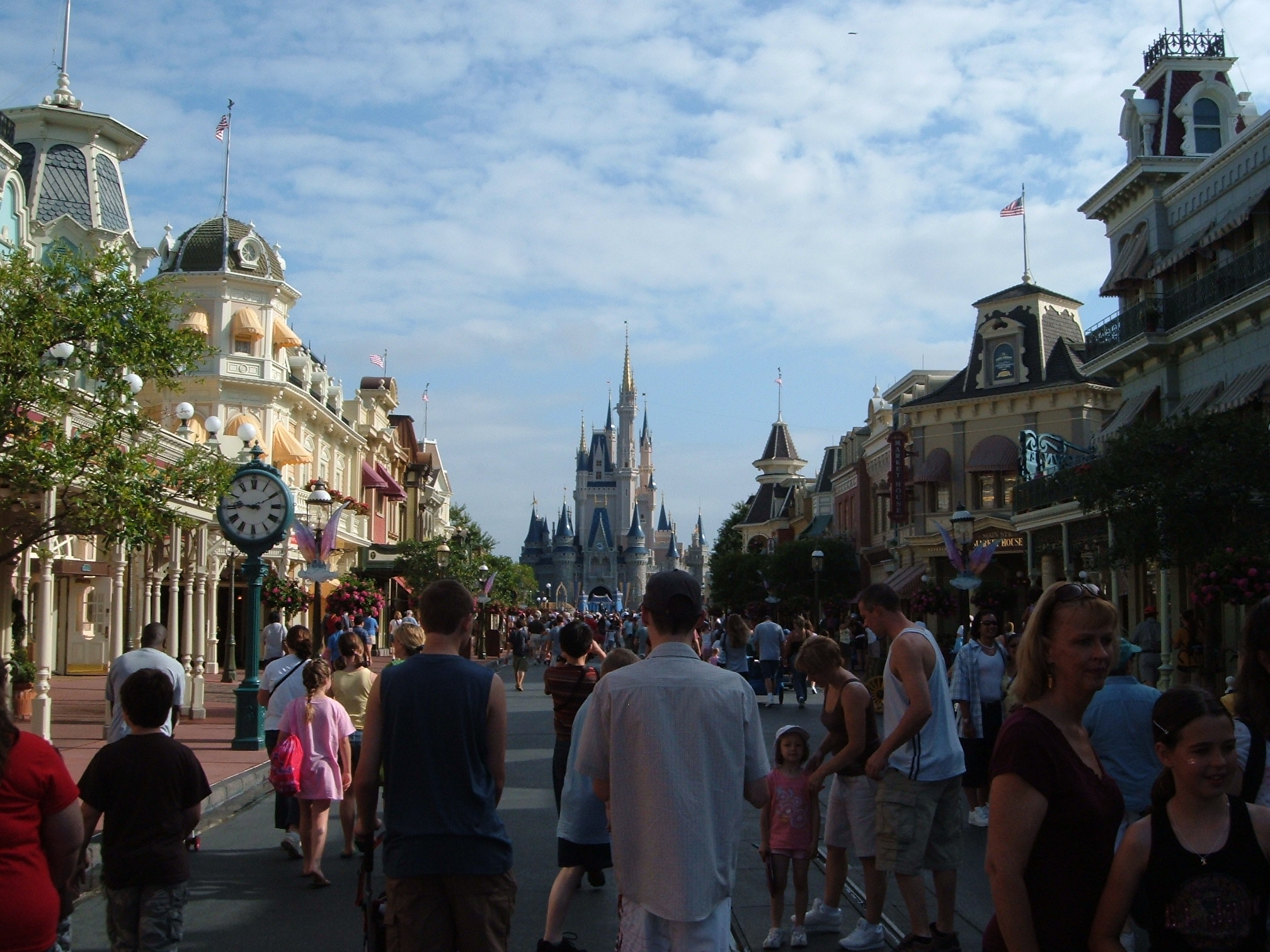 People at Main Street in Disney World