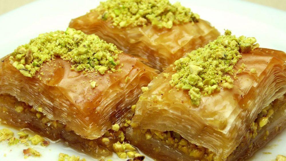 turkish baklava with pistachios