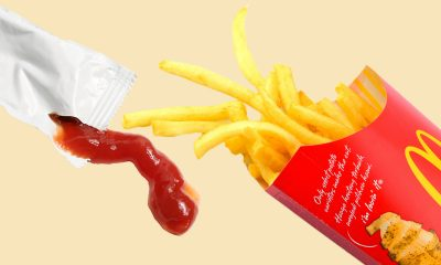 Ketchup packet and McDonalds fries