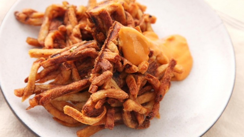 Turn leftover fries into waffle fries