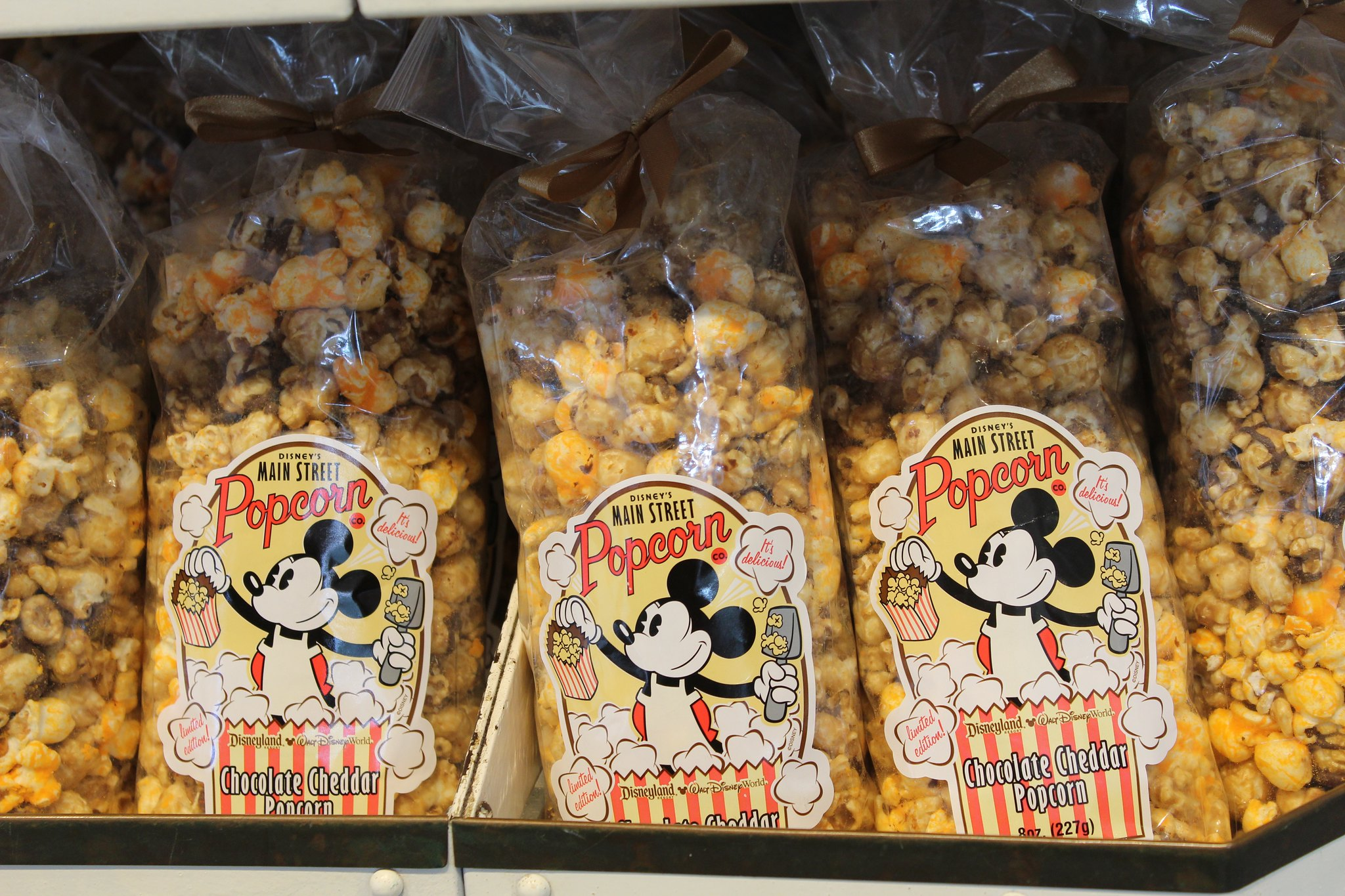packets of popcorn with Mickey Mouse on them