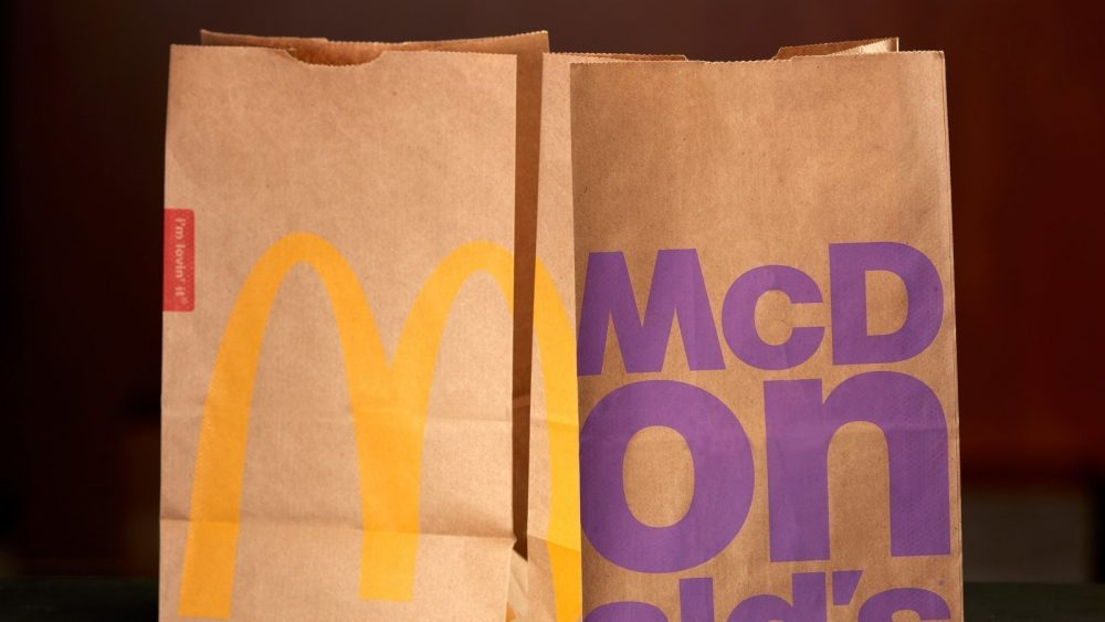 McDonalds paper takeout bags