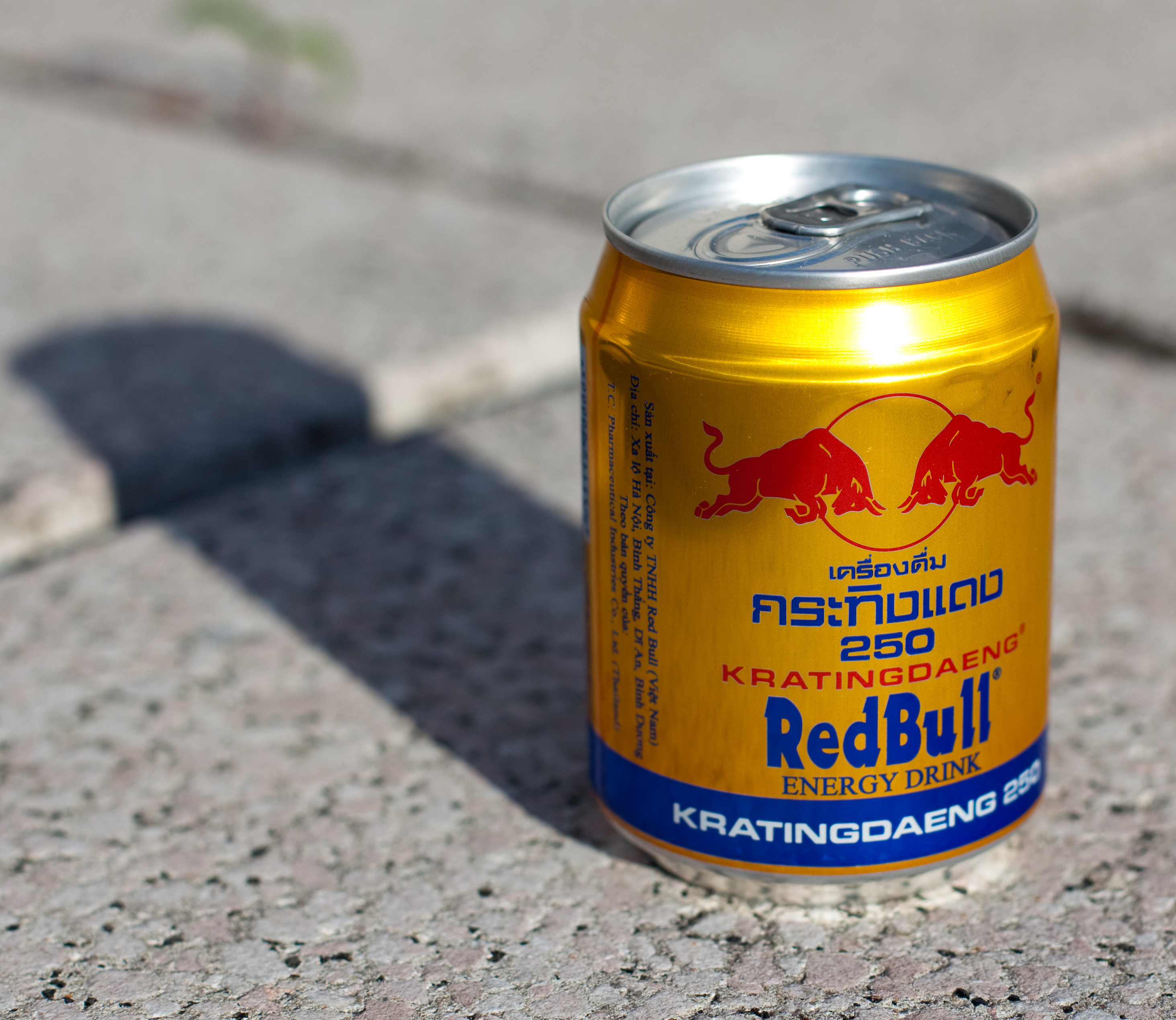 Krating Daeng can on pavement