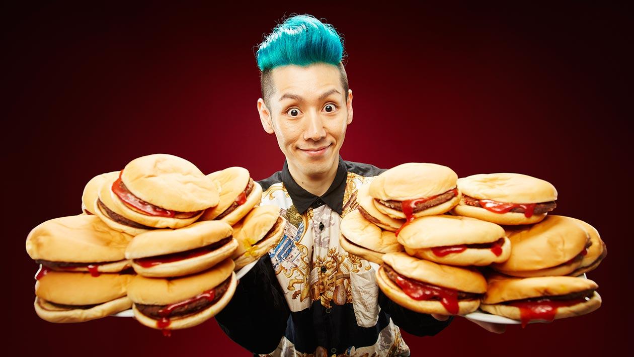Most-hamburgers-eaten-in-three-minutes