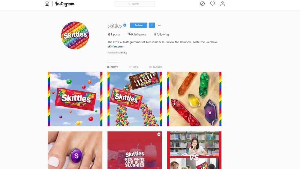 Skittles social media