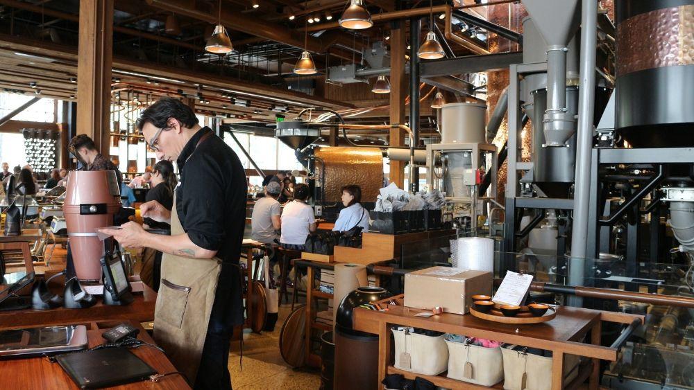 Starbucks Inside Seattle Location