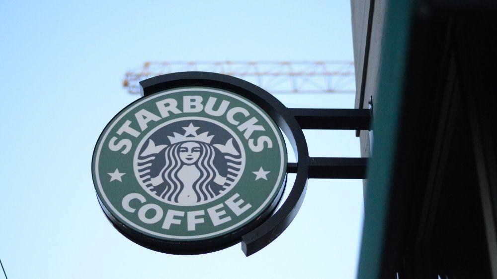 Starbucks coffee shop logo sign