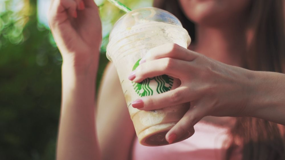Starbucks frappuccino drink blended