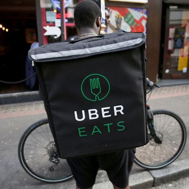 Uber eats delivers five guys