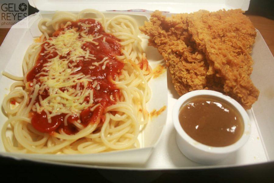 Chicken McDo with Spaghetti McDonalds