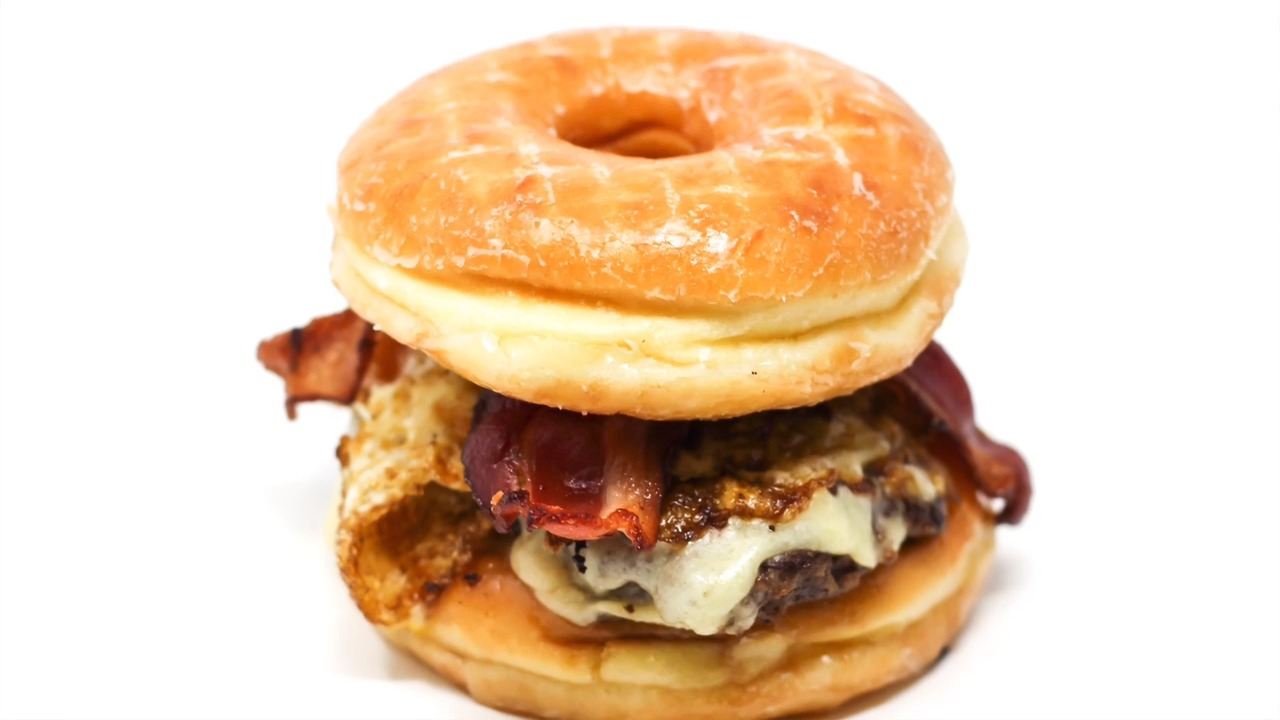 Americans love burgers and donuts.
