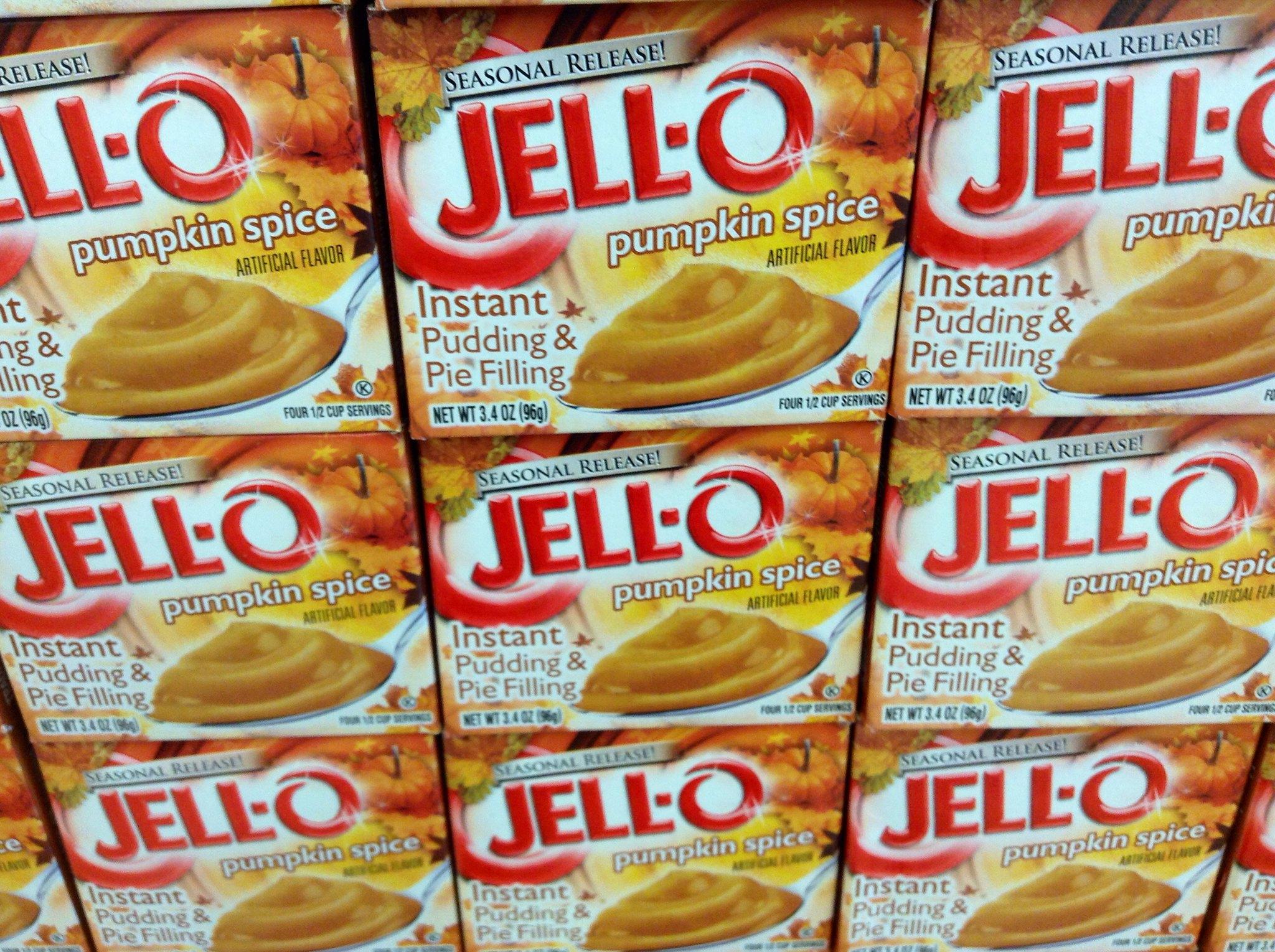 pumpkin spice jell-o packs
