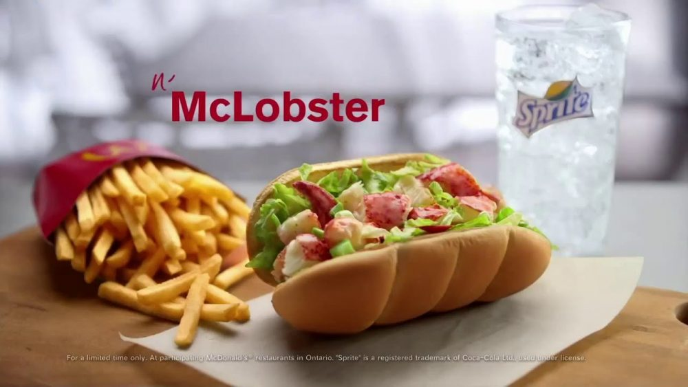 McLobster fries and sprite McDonalds