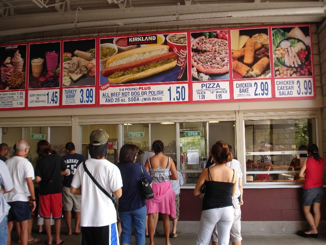 outdoor costco food court