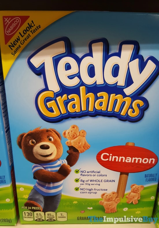 teddy grahams cinnamon flavor box