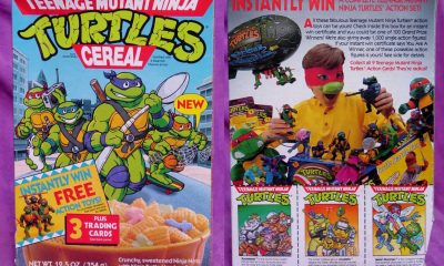 Teenage Mutant Ninja Turtles cereal box