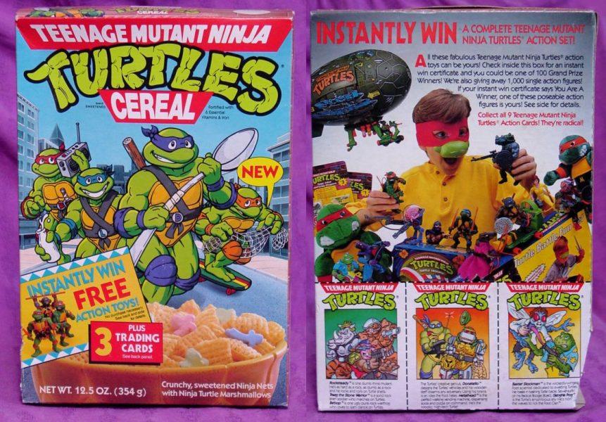 Teenage Mutant Ninja Turtles cereal box